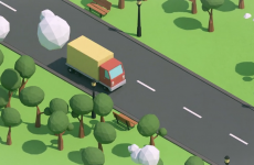 Low Poly Lorry
